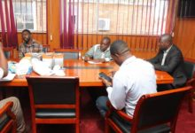 Photo of Kitwe Council projections in red