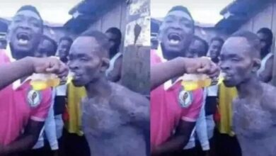 Photo of Youths revive thief with energy drink for another round of beating