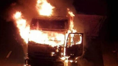 Photo of 'No Zambian truck was burnt'