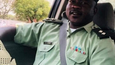 Photo of Lieutenant Nigel Mwaba arrested for Dr Tasila's murder